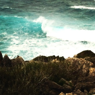 Winter View from Cape Koutoulas  #elafonisivillas #sea #waves #nature #outdoor