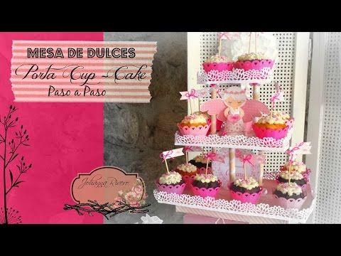 Como Decorar Mesa de dulces Scrapbook, Porta CUP CAKE Paso a Paso - YouTube