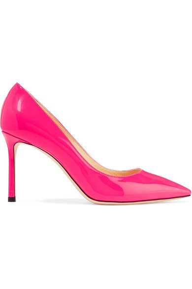 Jimmy Choo - Romy Patent-leather Pumps - Bright pink - IT40.5