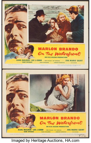 Movie Posters:Academy Award Winners, On the Waterfront (Columbia, 1954). Lobby Cards (2...