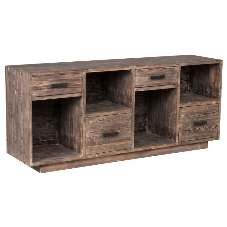 Kosas Home Garrett 4-drawer Rustic Mahogany Reclaimed Pine Sideboard (Rustic Mahogany), Brown