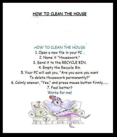 How To Clean The House Pictures, Photos, and Images for Facebook, Tumblr, Pinterest, and Twitter