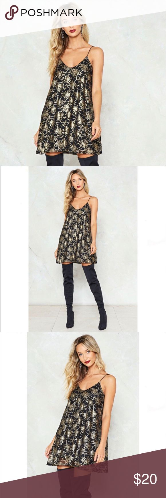 """Spin Out Cobweb Dress A brand Nasty Gal dress still sealed in its plastic bag. """"Fabric 95% Polyester, 5% Elastane. Machine Wash. Model wears US size 6, UK size 10."""" Nasty Gal Dresses Mini"""