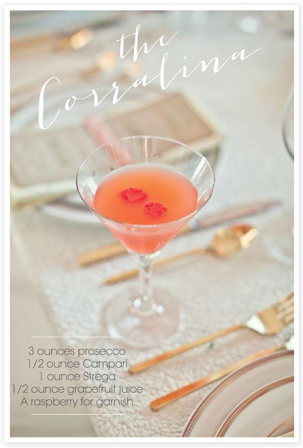 Prosecco and grapefruit martini.