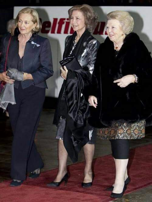 """Queen Paola of Belgium, Queen Sofia of Spain and Queen Beatrix of the Netherlands ... all """"retired"""" Queens as their sons have taken over for their fathers or mother."""