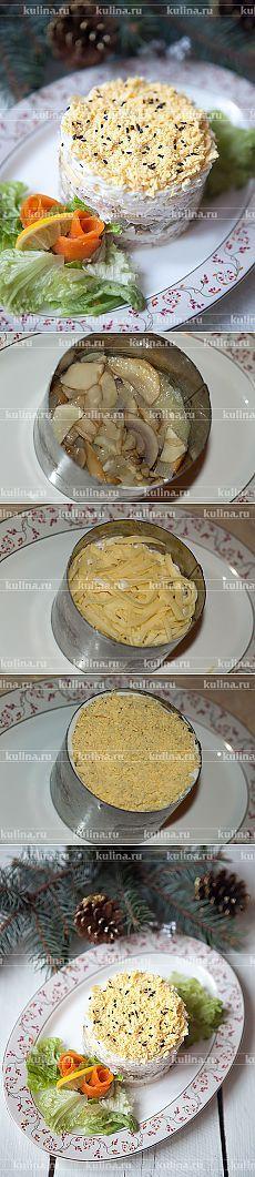 "Салат с курицей ""Новогодний"" – рецепт приготовления с фото от Kulina.Ru"