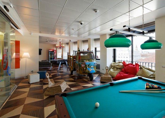 Google office milan inspirations creativity design for Office design game