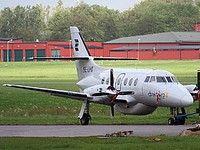 Svenska Direktflyg British Aerospace BAe-3201 Jetstream 32EP SE-LHI aircraft, parked at Sweden Halmstad City Airport. 21/08/2008.