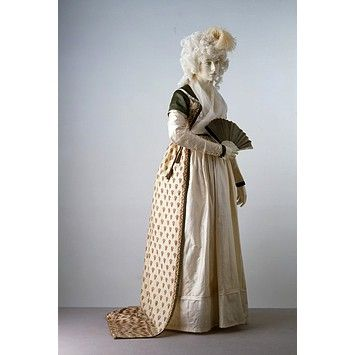 Robe    Place of origin:  England, Britain (made)    Date:  ca. 1797 (made)    Artist/Maker:  Unknown (production)    Materials and Techniques:  Printed silk and wool shawl, lined with linen, silk satin, silk ribbon, metal, hand-sewn    Museum number:  T.217-1968    Gallery location:  In Storage