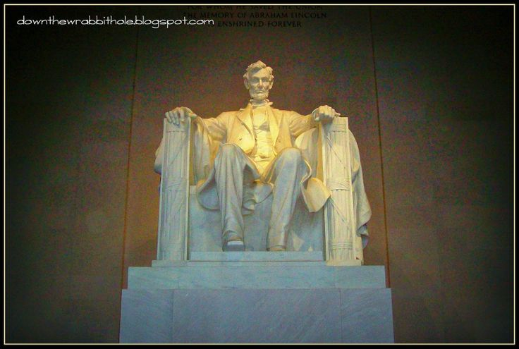 "See the Abraham Lincoln statue up close in Washington DC. Find out more at ""Down the Wrabbit Hole - The Travel Bucket List"". Click the image for the blog post."