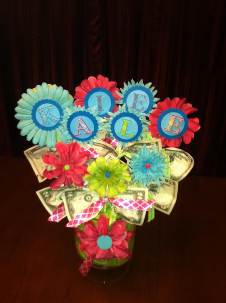 Money Flower Arrangement Gift Ideas Pinterest Money