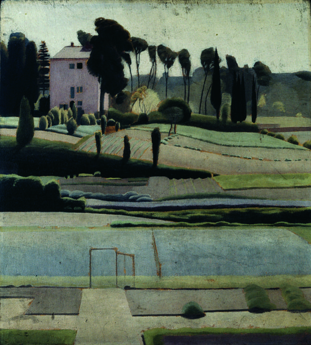 Winifred Knights, A view to the east from the British School at Rome, 1921.jpg