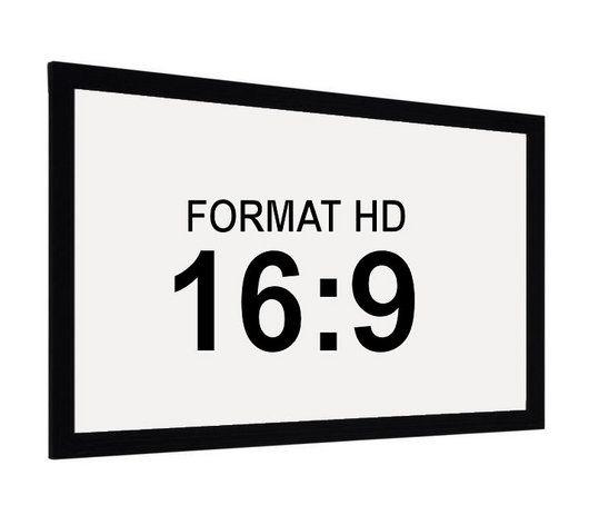 ECRAN CADRE 2.60 m x 1.46 m - BLANC MAT - HOME CINEMA/Ecrans de Projection 16:9 - cinaudio-france