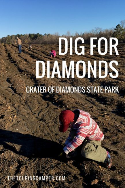 Take your family on an adventure they won't soon forget and dig for diamonds at Crater of Diamonds State Park in Murfreesboro, Arkansas.