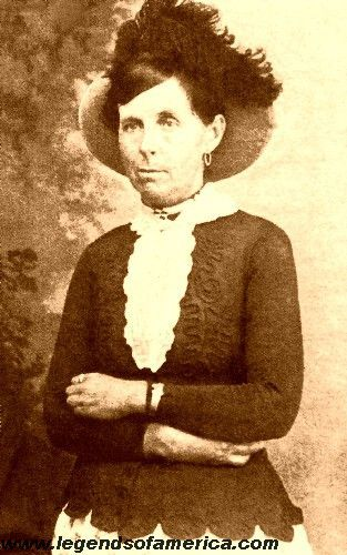 Belle Starr, the Bandit Queen, hooked up with the Younger Brothers and Jesse James. She became a horse thief, outlaw and prostitute. She was the first woman to be tried for a serious crime by Judge Isaac Parker. She was shot in the back and killed by an unknown assailant.  Belle was buried at her cabin southwest of Porum, Oklahoma near the Eufuala Dam in Muskogee County.