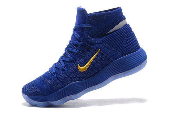new style 07f76 814db ... ireland discount nike hyperdunk 2017 elite flyknit warriors away blue  yellow mens basketball shoes 2018 sale