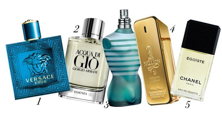 Perfumes para hombre que más perduran: 1. Eros de Versace,  2. Acqua Di Gio de Giorgio Armani  3. Le Male de Jean Paul Gaultier 4. One Million de Paco Rabanne  5. Egoïste de Chanel.