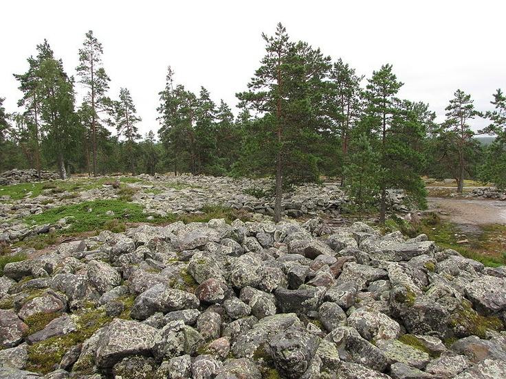 Sammallahdenmäki, a Bronze age burial site in Finland in Rauma municipality. It was designated by UNESCO as a World Heritage Site in 1999.