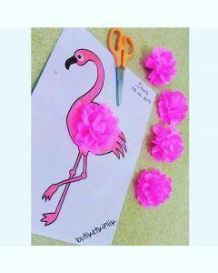 Flamingo craft idea for kids | Crafts and Worksheets for Preschool,Toddler and Kindergarten