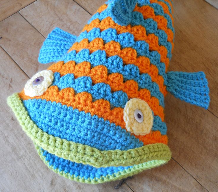 Crochet Fish Hat Pattern and Tutorial by Salowicious on Etsy, $5.00