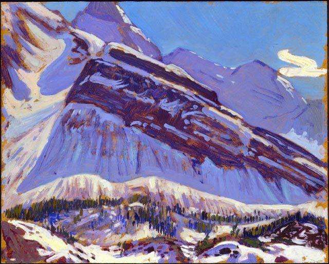 J E H MacDonald   Snow on Mt. Schaffer