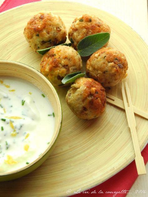 Boulettes de poulet au citron, sauge et noix de cajou   Blog de recettes bio : Le cri de la courgette...