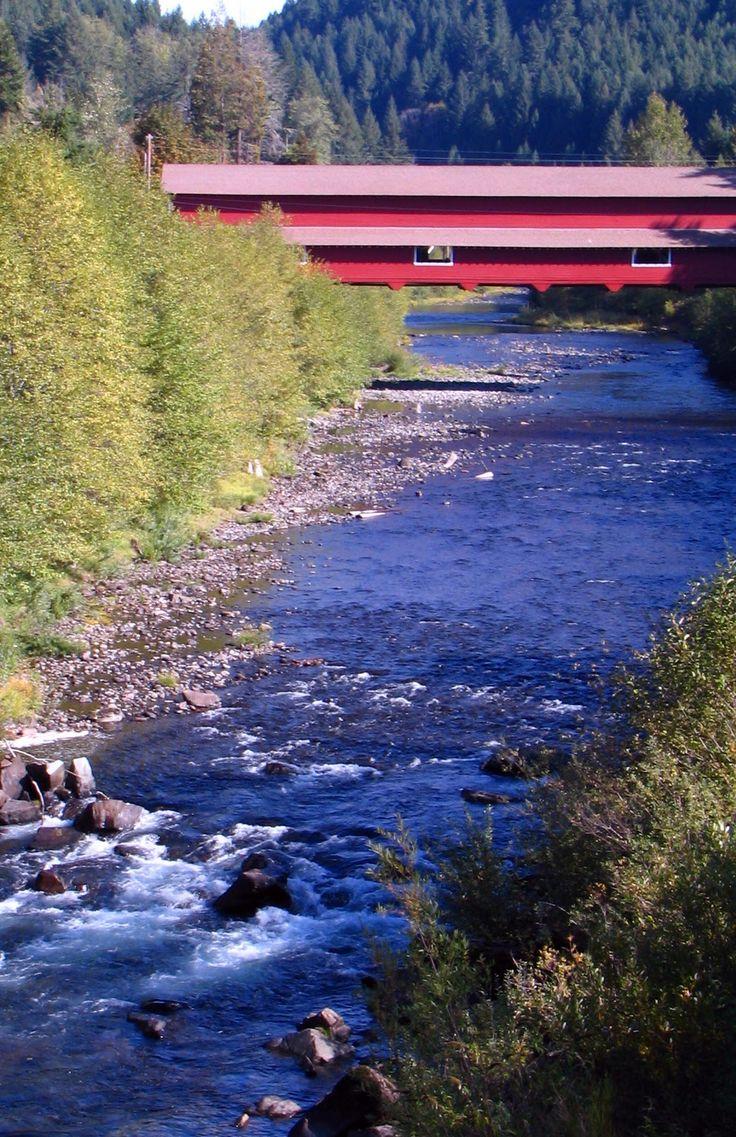 Westfir covered bridge, North Fork Willamette River, OR
