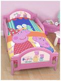 Peppa Pig 'Funfair' Junior/Cot/Toddler Quilt Cover Set - Cotton Mix | Kids Character Clothing, Bedding and Accessories | Cooldudes Kids Australia