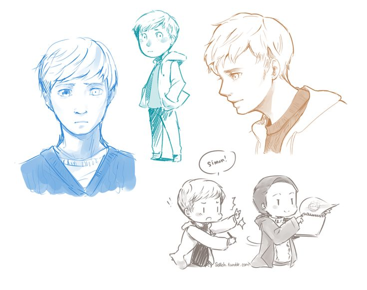 in the flesh sketches by Sellleh