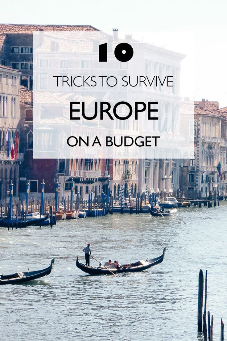 10 Tricks To Survive Europe On A Budget #rtavel #europe #budgettravel #travel tips  Budget Travel Europe   Budget Travel Hacks   Europe On A Budget  