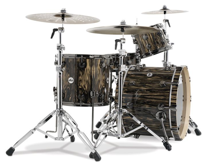 DW Drums Collector's Series Exotic - Natural Lacquer over Royal Ebony with Black Nickel Hardware