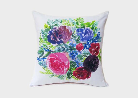 Floral Party No. 2 Cushion Cover Pillow Cover Pink by itsamyu