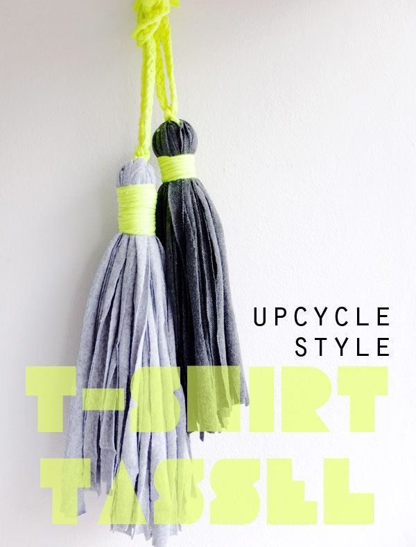 How to make a t-shirt tassel