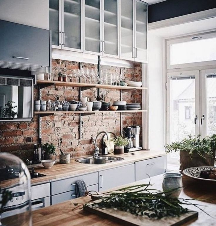 Scandinavian Kitchendesign Ideas: 30+ Modern Rustic Kitchen Decor Open Shelves Ideas