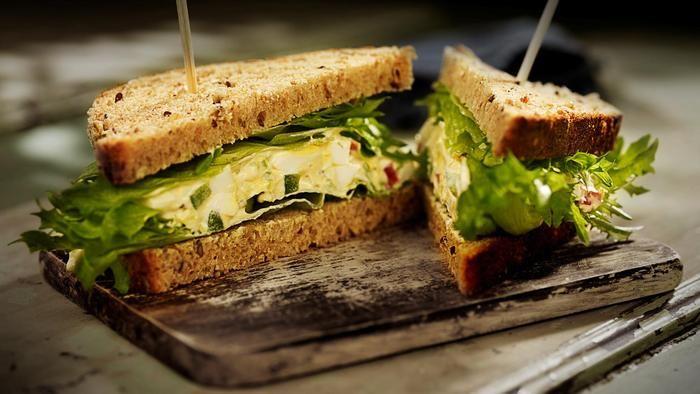Sandwich med eggsalat