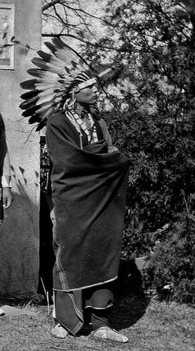 Tsekoyate (aka Big Bow, aka James Auchiah), the husband of Celia Lonewolf-Daugomah-Auchiah - Kiowa - 1926