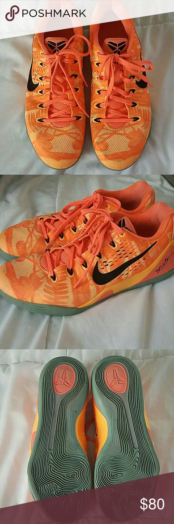 Kobe basketball shoes Basketball shoes maybe worn 5 times some wear as you can see in pics Nike Shoes
