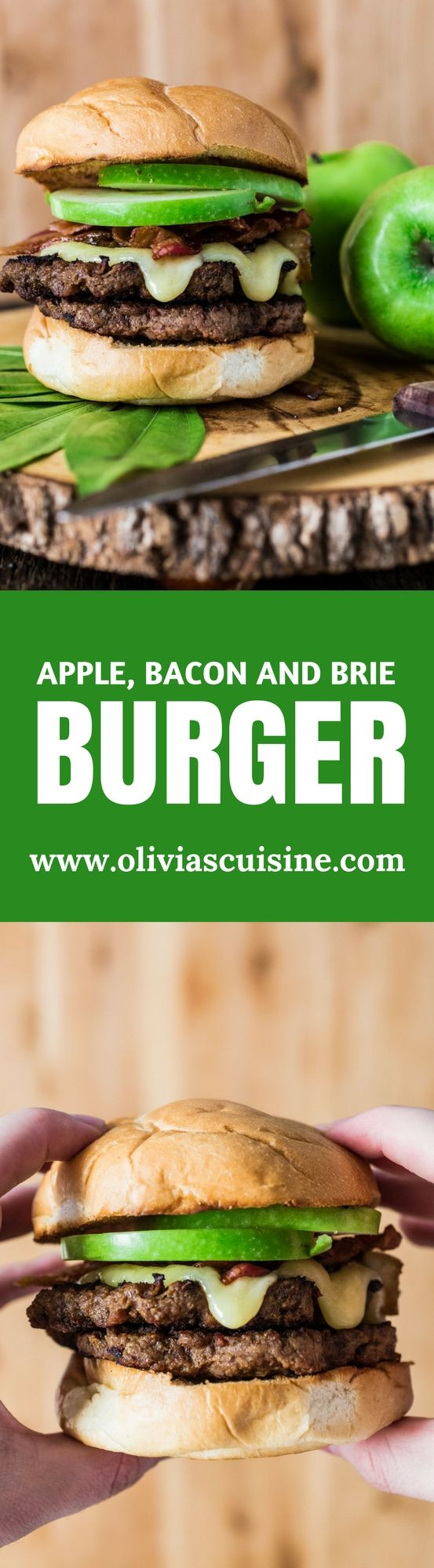 Apple, Bacon and Brie Burger | www.oliviascuisine.com | The epitome of fall, this delicious Apple, Bacon and Brie Burger will have you licking your fingers! (Sponsored by Tyson Foods, Inc.) AD