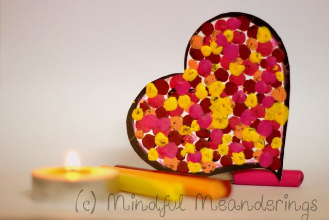 Melted Crayon Hearts you can use as candles! Just insert wick