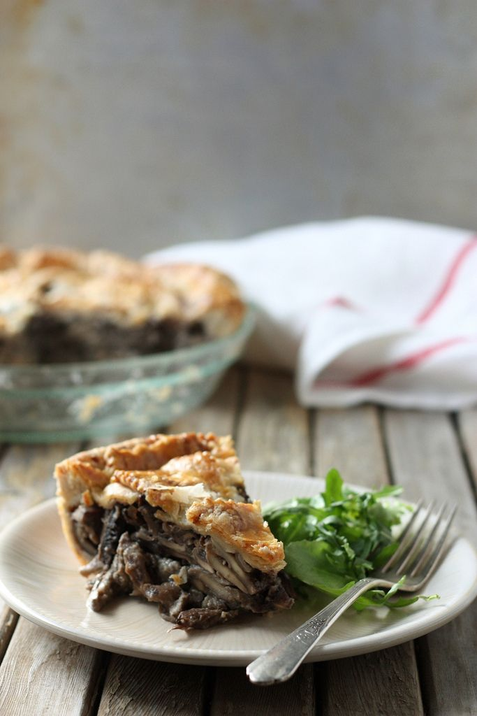 Wild Mushroom Pie with Parmesan Crust | Tasty Treats | Pinterest