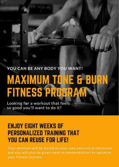 orange black workout personal trainer flyer elite flyer