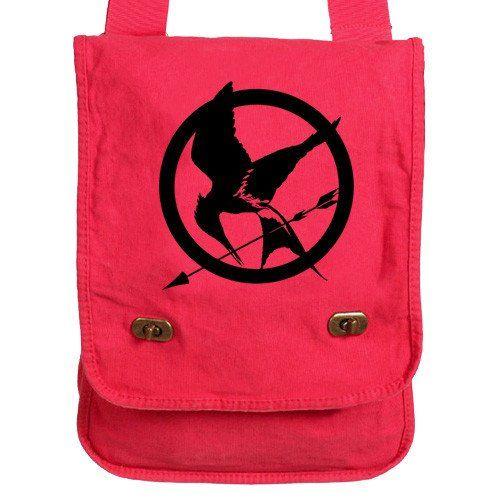 Hunger Games Messenger Bag green