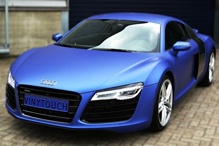 Audi R8 Wrapped In Brilliant Blue Matt Metallic Car