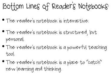 The reader's notebook is an integral part of reading workshop and is a great tool for authentic assessment.  It goes hand-in-hand with read-aloud with accountable talk and will really be powerful if students learn to talk deeply in preparation for writing.  The main reason for a reader's notebook, in my opinion, is to deepen students' ability to think, talk, and write about their reading.