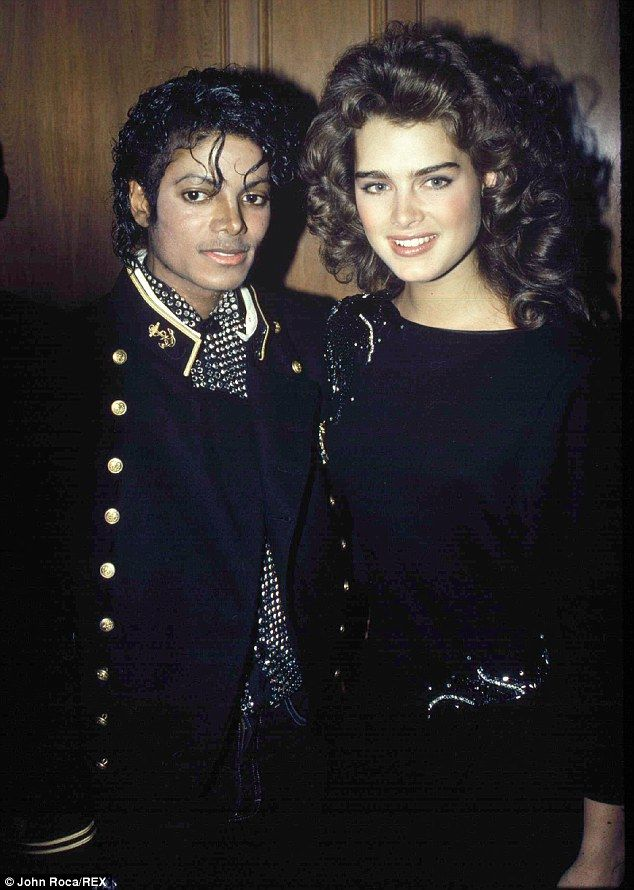 Close friends from the get go: Brooke and Michael pictured together in December 1984
