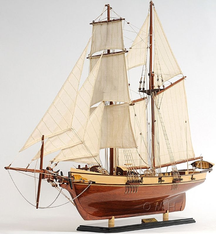 1800's Baltimore Clipper Harvey Wooden Model Ship