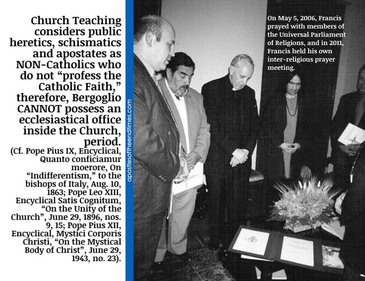 Public heretics, schismatics, and apostates CANNOT possess an ecclesiastical office inside the Church, period!