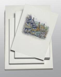 Fylligt akvarellpapper med matt karaktärsfull yta. Studiokvalite. 100 ark A3 och 200 ark A4....