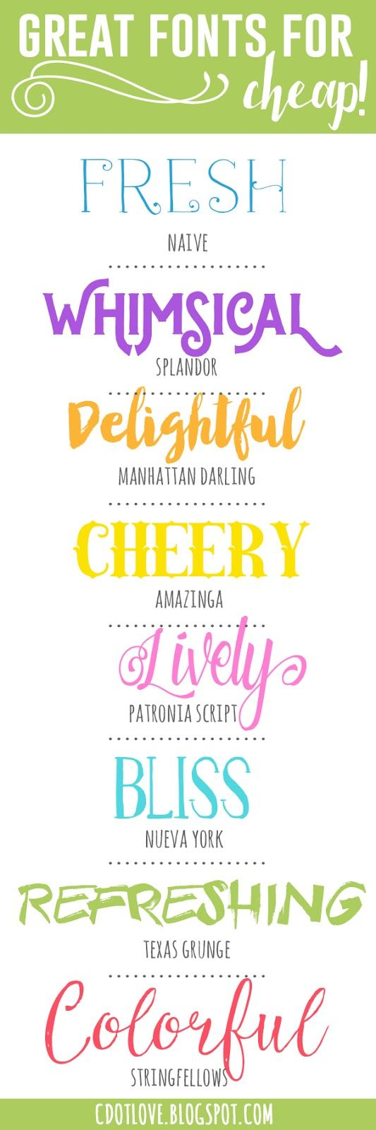 CdotLove Design { by Kristin Clove }: Fonts! Inexpensive and fun!