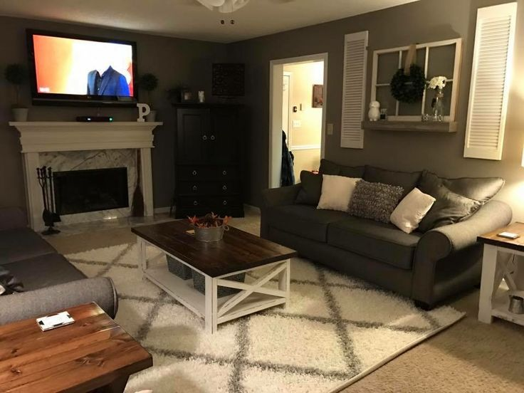 9 Dark Gray Couch Light Gray Walls For The Home Pinterest Farm House Living Room Home Home Living Room